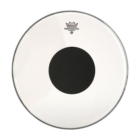 Los parches Remo Controlled Sound Transparente Centro Negro (Clear Top Black Dot) presentan tonos medios enfocados con un ataque bien definido. El área exterior del parche ofrece un tono y una sensibilidad mejorados, mientras que el centro negro (Black Dot) central agrega durabilidad y control de sobretonos (armónicos).Construido con 1 capa de película transparente de 10 mm y un Centro Negro (Top Black Dot) de 5 mm.